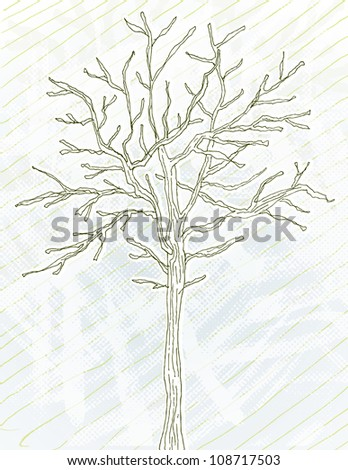 Barren - stock vector