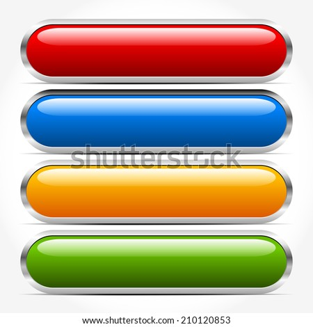 Bars, buttons, banners - stock vector
