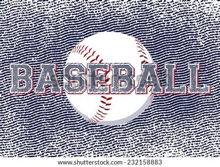 baseball background  - stock vector
