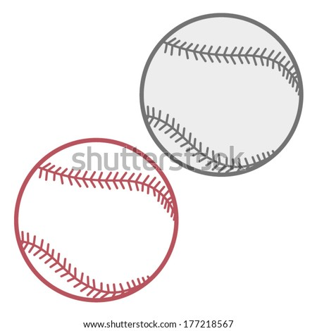 BASEBALL BALL illustration vector - stock vector