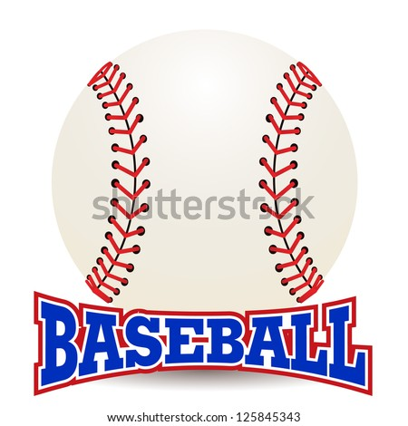 Baseball ball on a white background - stock vector
