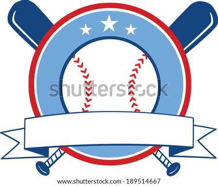 Baseball Banner. Vector Illustration Isolated on white - stock vector