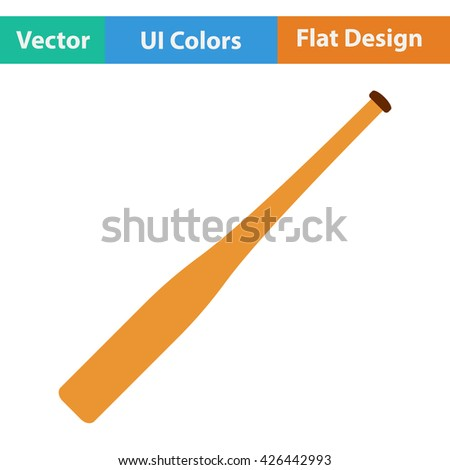 Baseball bat icon. Flat design. Vector illustration. - stock vector