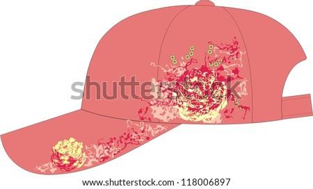 Baseball cap for girls - stock vector