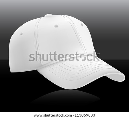 Baseball cap template. Mesh & gradients. - stock vector