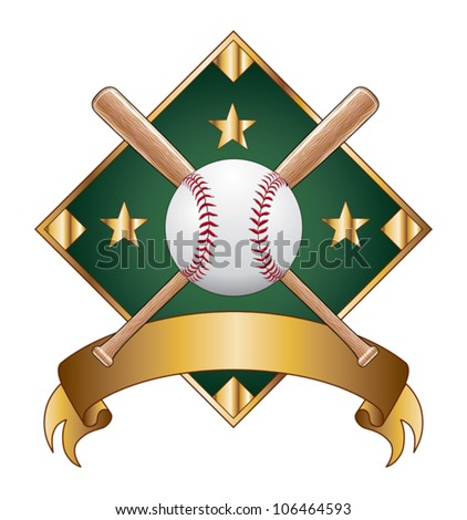 Baseball Design Template Diamond is an illustration of a baseball design template with diamond for use with your own text. Great for t-shirt designs. - stock vector