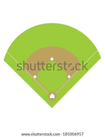 Baseball Diamond and Field - Vector - stock vector