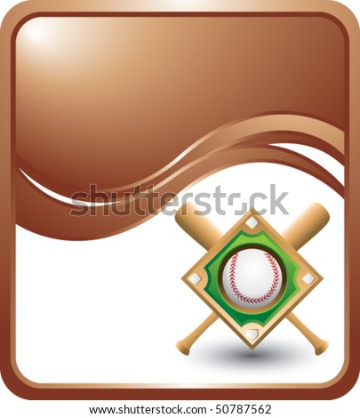 baseball diamond bronze wave - stock vector
