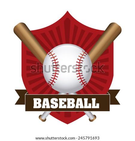 baseball icon design, vector illustration eps10 graphic - stock vector