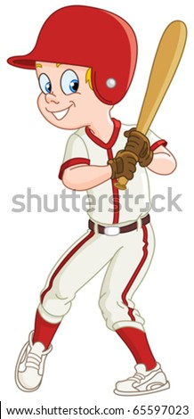 Baseball kid - stock vector