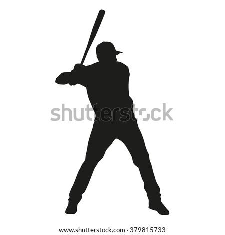 Baseball Batter Silhouette Facing Pitcher