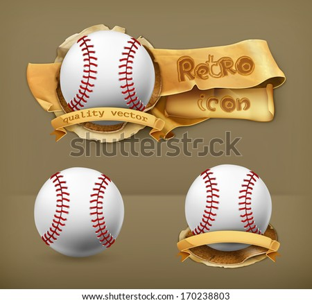 Baseball, vector icon - stock vector