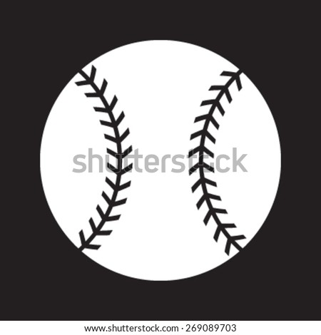 Baseball Vector Icon - stock vector