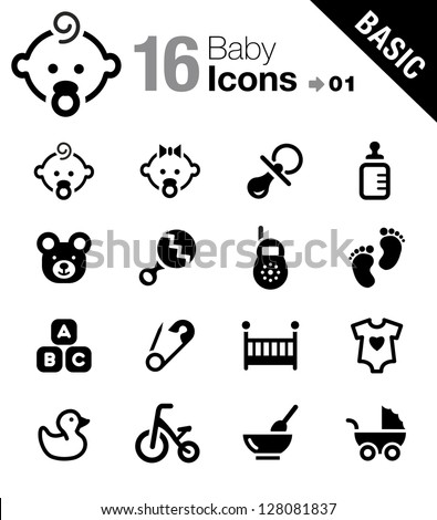 Basic - Baby icons - stock vector