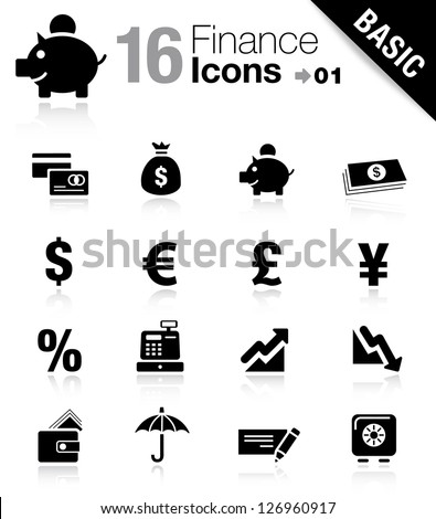 Basic -  Finance icons - stock vector