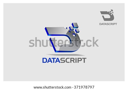 Basic of this is logo is letter of D or it's an initial logo, it's a 3 D vector logo with shiny effect, try to symbolize a high technology, advance technology, smart, and modernity. - stock vector