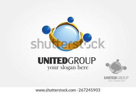 Basic of this logo is human figure made from the globe, it's try to symbolize of unity, group, teamwork, society, togetherness, communication, global network, peace, and others  - stock vector