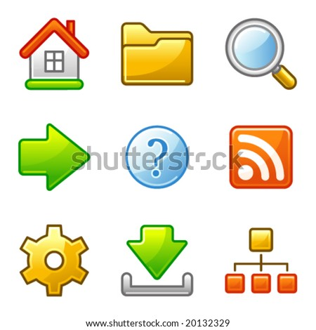 Basic web icons, alfa series - stock vector