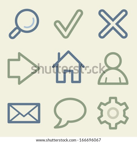 Basic web icons, money color set - stock vector