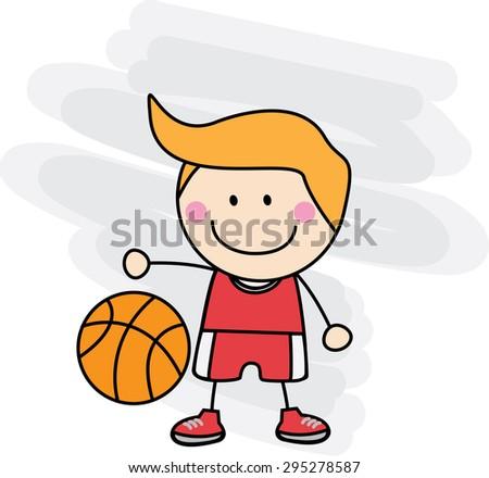 Basket ball boy - stock vector