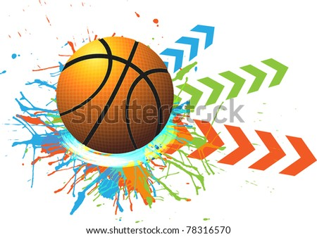 basketball advertising poster. - stock vector