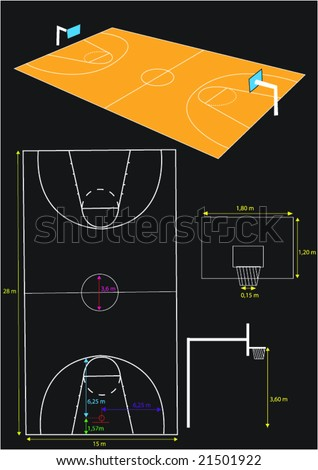 basketball area - stock vector