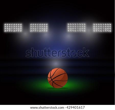Basketball arena - stock vector