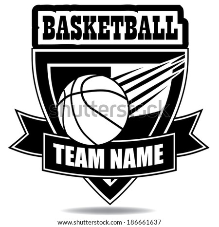 Basketball badge icon symbol  EPS 10 vector, grouped for easy editing. No open shapes or paths. - stock vector