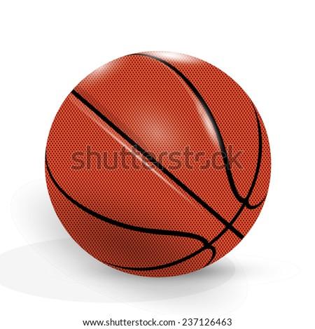 Basketball ball. - stock vector