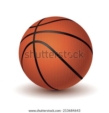 basketball ball on white background.vector illustration - stock vector