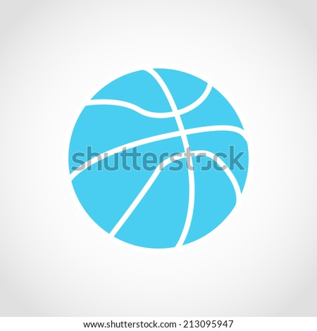 Basketball, ball silhouette Icon Isolated on White Background - stock vector