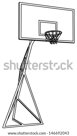 Basketball basket construction vector isolated on white background , play ground - stock vector