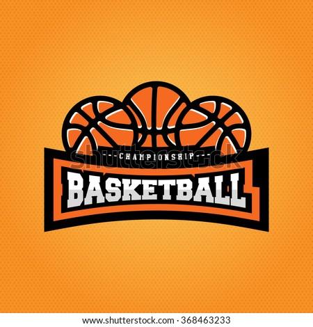Basketball championship logo. T-shirt design - stock vector