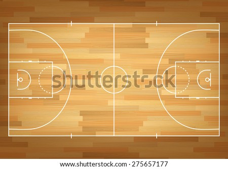 Basketball court on top. Vector EPS10 illustration.  - stock vector