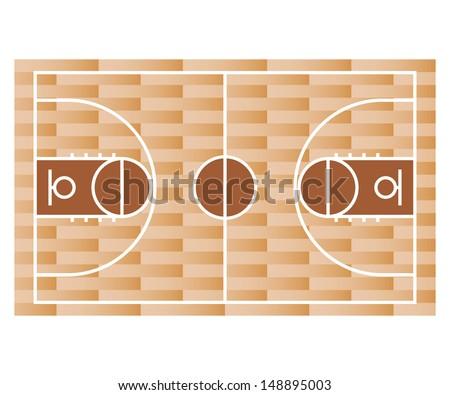 Basketball court. vector. - stock vector