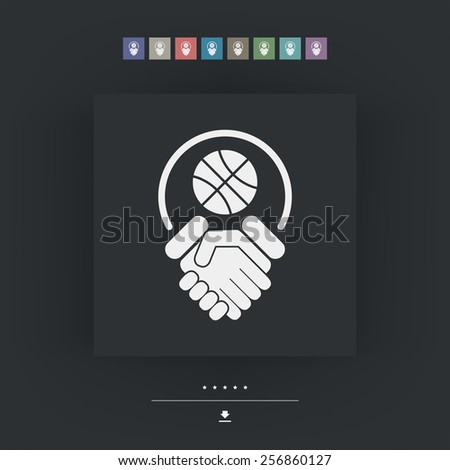 Basketball fairplay - stock vector