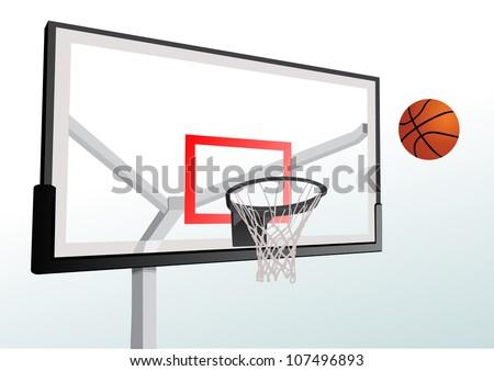 Basketball hoop - stock vector