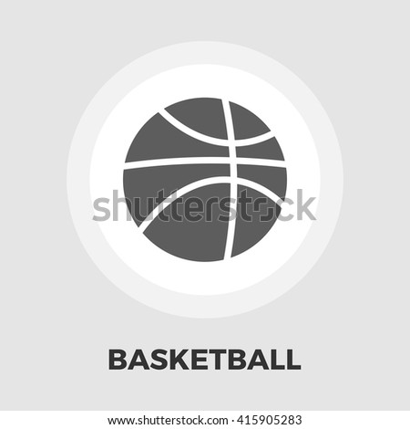 Basketball icon vector. Flat icon isolated on the white background. Editable EPS file. Vector illustration. - stock vector