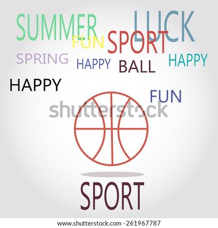 Basketball icon, vector illustration. spring theme - stock vector
