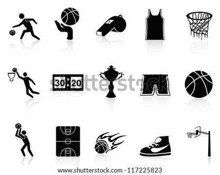 Basketball Icons set - stock vector