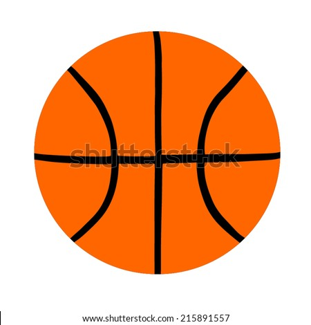 Basketball isolated on a white background as a sports and fitness symbol of a team leisure activity playing with a leather ball dribbling and passing in competition tournaments.  - stock vector