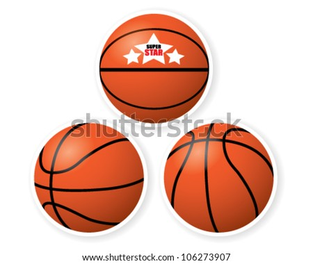 Basketball isolated on white background - stock vector