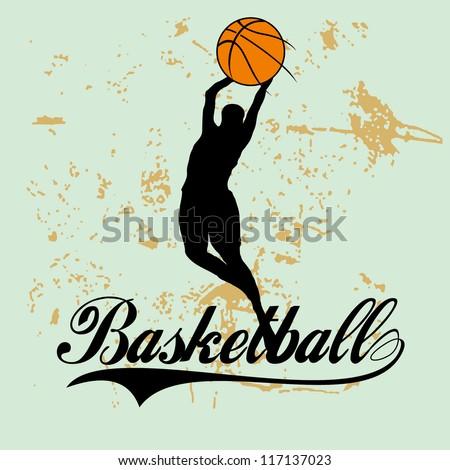 basketball line - stock vector