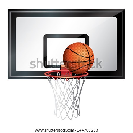 Basketball Net - stock vector