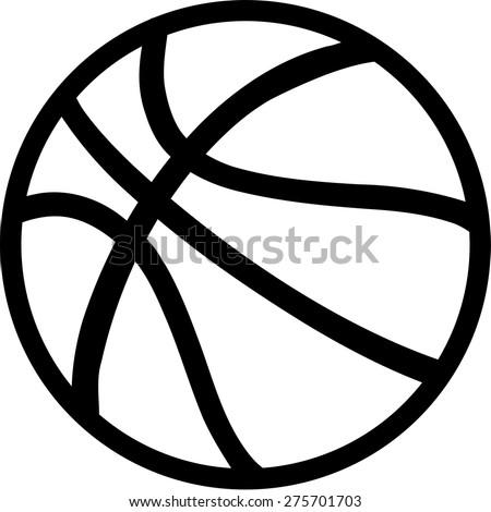 Basketball on white Background - stock vector