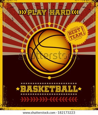 Basketball poster. - stock vector