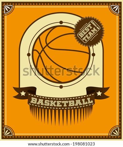Basketball retro poster. - stock vector
