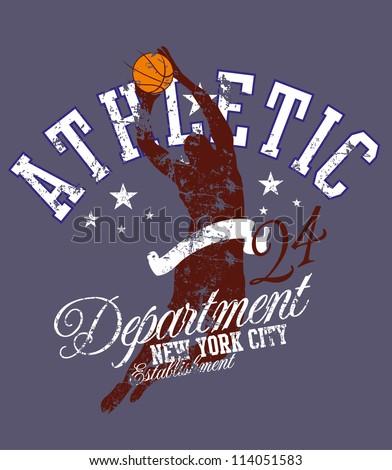 basketball star - stock vector