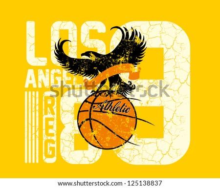 basketball team vector art - stock vector