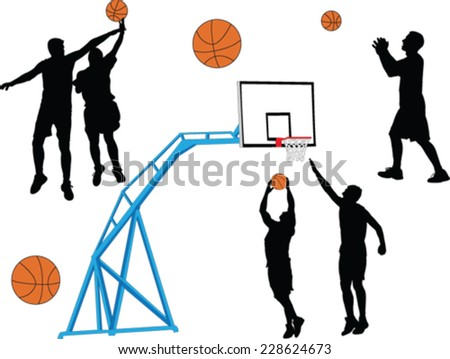 basketball - vector - stock vector
